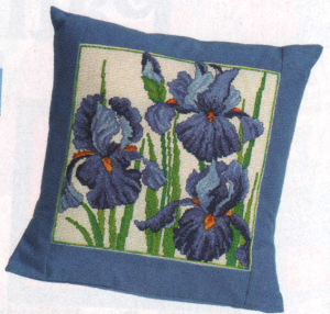 Cross stitch design in World of Cross stitching that has been made into a cushion