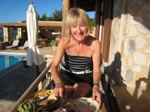 Lesley on holiday - not all work!