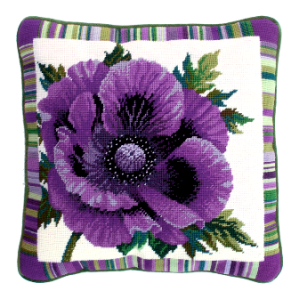 needlepoint poppy