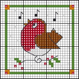 Motif de Noël - Robin graphique