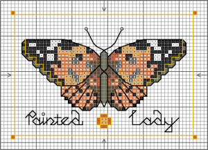 Butterfly - Painted lady chart