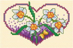 Coeur de fleurs de printemps