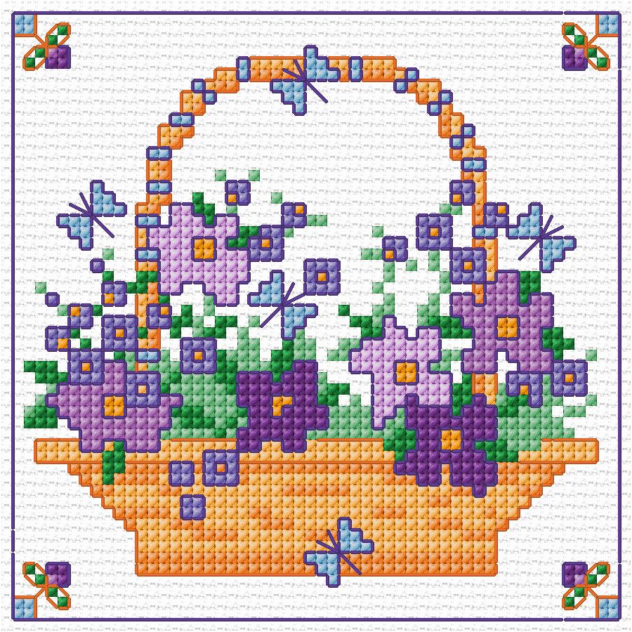 Flower Baskets Cross Stitch Charts : Pin by barbara zito on cross stitch love