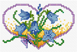 BLOG flower hearts - bluebells - Simulation