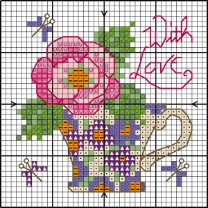 Jolie carte rose