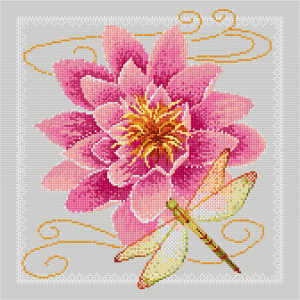 Waterlily and dragonfly - Simulation