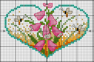Flower heart foxgloves Chart